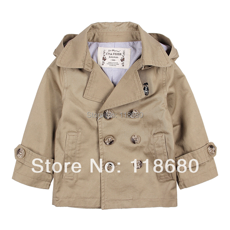new 2017 spring autumn kids jackets & coats baby clothing child double breasted trench baby boys and girls Casual outerwear