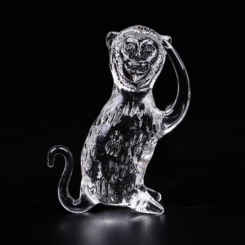 Wholesale Cheap Price Twelve Chinese Zodiac Signs Monkey Glass Figurines Crystal Craft For Birthday Gift And