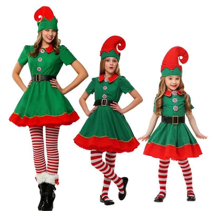 Rolecos brand new women christmas halloween costume long - Disfraces de duendes navidenos para ninos ...