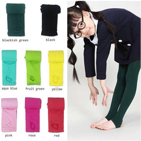 1pc 2015 children spring autumn tights for warm 120D velvet pantyhose kids girls stepping foot tights