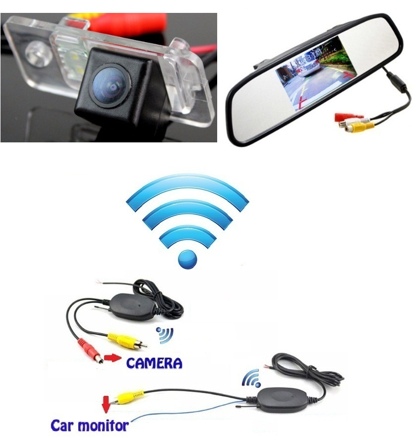 3in1 DIY for Audi S4 A4 RS4 A6 S6 C6 RS6 wireless no wire wifi backup rear view/rearview reverse camera/camara &amp; screen monitor<br><br>Aliexpress