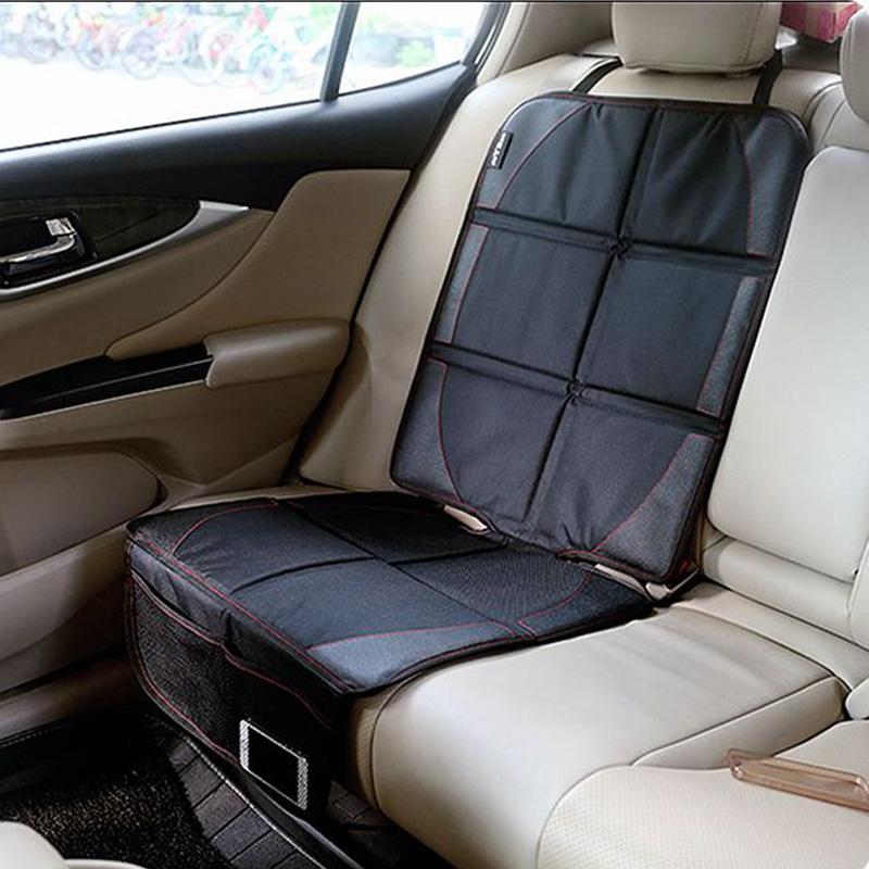 LUNDA Luxury leather Car Seat Protector Child or baby car seat cover Easy Clean Seat Protector Safety Anti Slip Universal Black(China (Mainland))