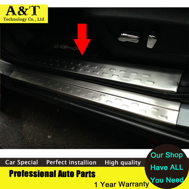 car styling Stainless Steel door sill scuff plate Guard sills For 2014 2015 Nissan Qashqai Welcome Pedal(China (Mainland))
