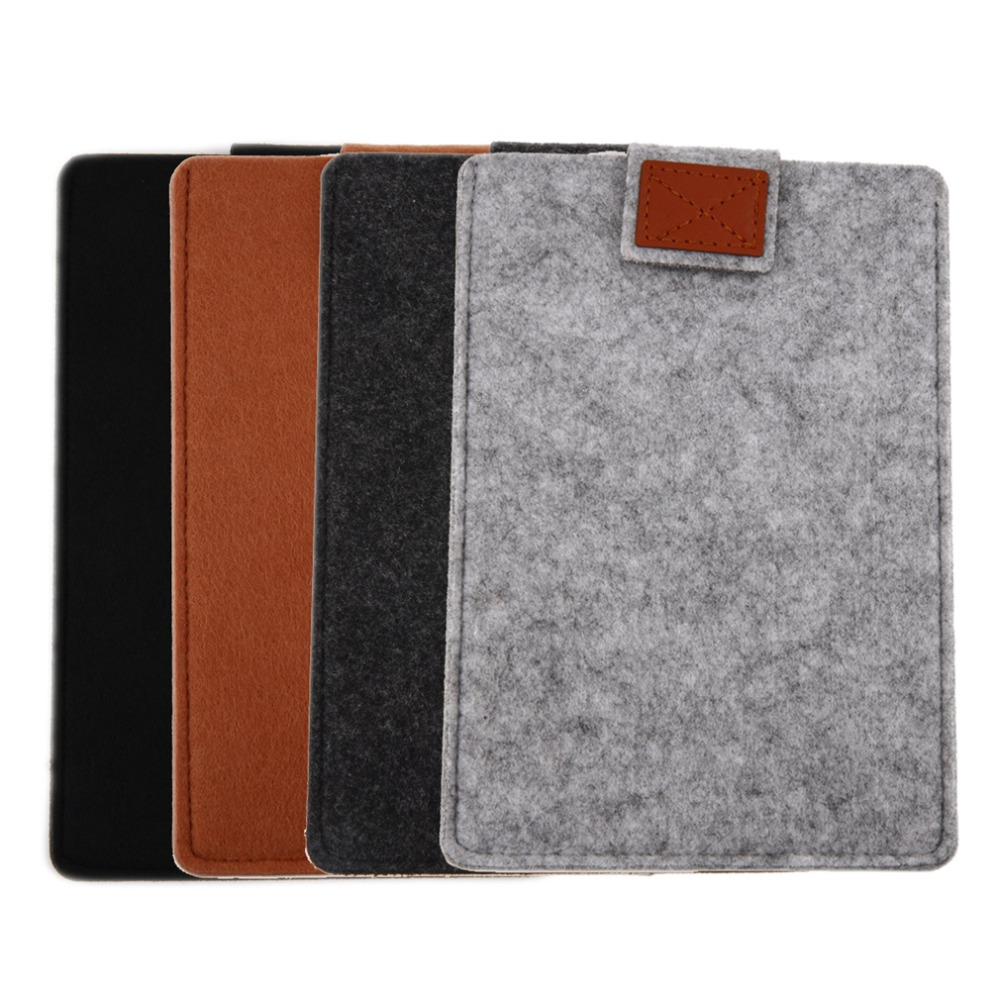2016 newest 8/10/11/13/15 Inch Felt Leather Laptop Case Sleeve Bag Cover Shell for Apple hot sale(China (Mainland))