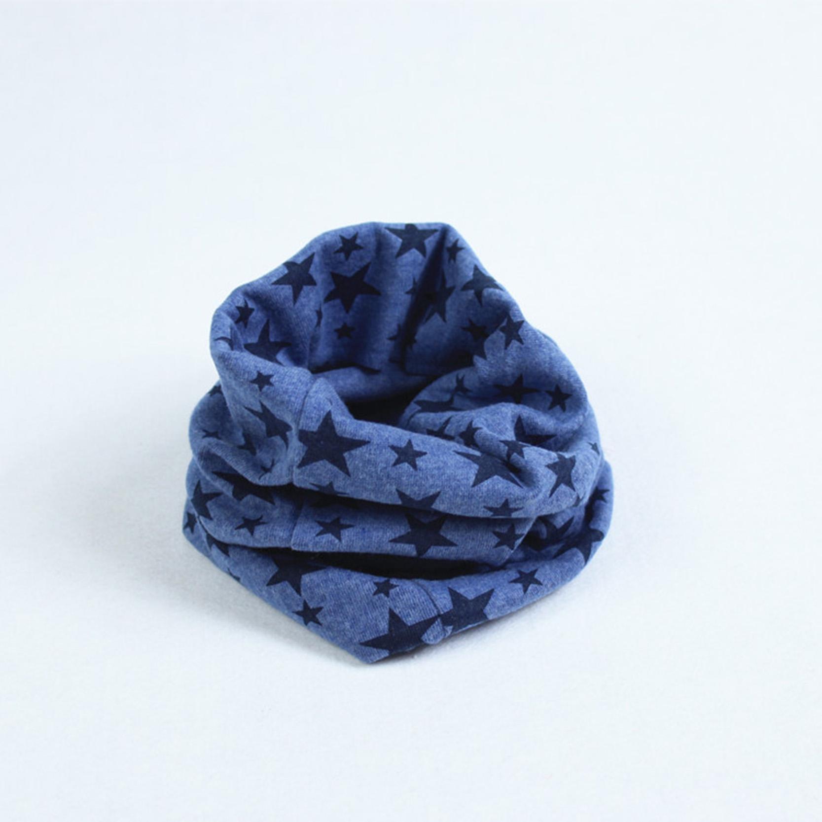 Classic Children's Kids Cotton Designer Scarf Baby Boy Girl Ring Scarf Unisex Winter Stars Pattern Collar Neck Warmer 2015(China (Mainland))