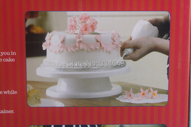 Turntable Decorating Stand Platform White 28cm Round Rotating Revolving Cake Sugarcraft Best Selling(China (Mainland))