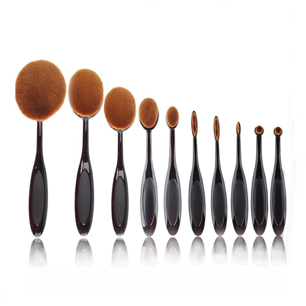 10Pcs/Set Makeup Brushes Sets Cosmetic Powder Foundation Brush Make Up Brush Face Tool Kit Pinceis De Maquiagem Brochas Pinceaux(China (Mainland))