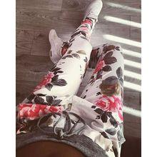New Fashion Autumn S-XXL Plus Size Flower Printed Womens Harem Pants 2016 Nineth Capris Casual Trousers(China (Mainland))