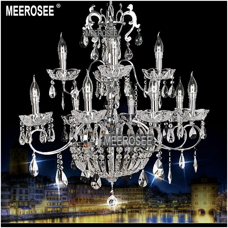 vintage 12 arms clear crystal chandelier light crystal. Black Bedroom Furniture Sets. Home Design Ideas