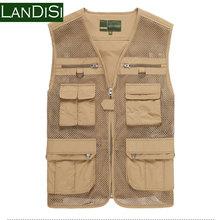 Brand New Fashion Men Plus Size M-XXXL High Quality 4 Pockets Net Casual Outdoor Vest Men Sports Fishing Vest 6606b(China (Mainland))