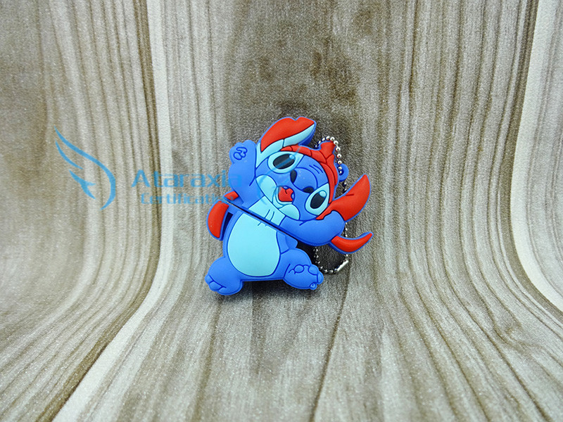 Bob U disk pen drive stitch gift pen drives 2G 4G 8gb 16gb 32g 64g pendrives cartoon blue dog usb flash drive pendrive(China (Mainland))