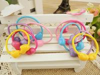 TS 50 шт высокое качество коробки круглый мяч дети упругих волос полос упругих волос галстук детей резиновые волос