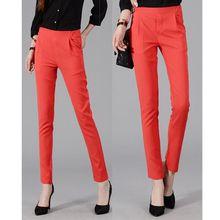 Slim Casual Trousers Women Pencil Pants Fashion Middle waist Women's pants(China (Mainland))