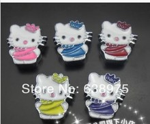 Hot sale! 8mm mix color hell kitty Slide charms,diy jewelry.(China (Mainland))