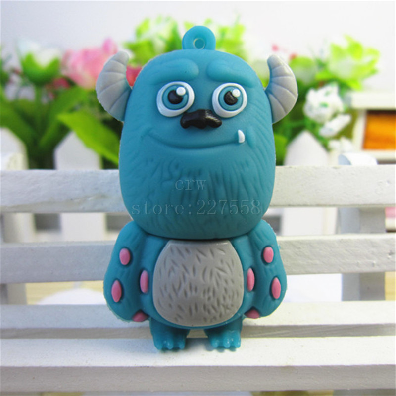 Free shipping pen drive smile cow monster university 8gb/16gb/32gb/64gb bulk usb flash drive flash memory stick pendrive mini(China (Mainland))