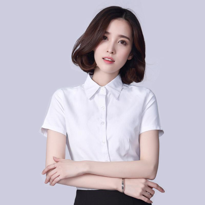 2016 women 39 s white shirts elegant ol business formal short for Womens white shirts high quality