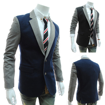 2015 Rushed Hot Sale Regular Polyester Cotton Single Breasted Broadcloth Full Jacket Men Blazer Men Blazer
