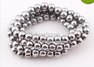 8MM Magnetic Beads Round Stone Beads Ball 100pcs/lot D0323(China (Mainland))