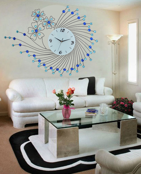 Buy large living room wall clock creative for Living room wall clocks