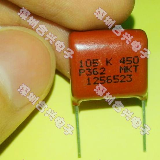 10 PCS/LOT CBB capacitor 450 v 1 uf 450 feet 15 mm correction capacitor film capacitors