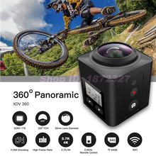 New 360 Degree Mini WiFi Sport Camera Panorama Video 4K HD Action Video Waterproof Camcorder DV APP Remote Control Smartphone(China (Mainland))