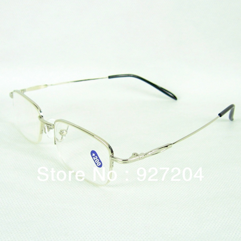 Half Rim Metal Frame Reading Glasses With Presbyopia Lenses Default With +2.00 Power Lens Others Please Note In Your Order(China (Mainland))