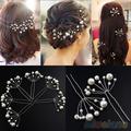 2015 Hot Selling New Fashion Bridal Marriage Hair Pins Simulated pearl Wedding Hairpins 4MUG