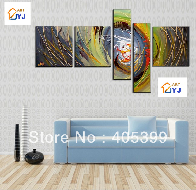 Free Shipping !!! 5 Pieces ,Large Handmade Modern Canvas Oil Painting Wall Art ,Free Shipping Worldwide Z077