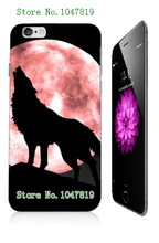 Mobile Phone Case Retail 1pc wolf Protective White Hard Case Cover For Iphone 6 6th Free Shipping