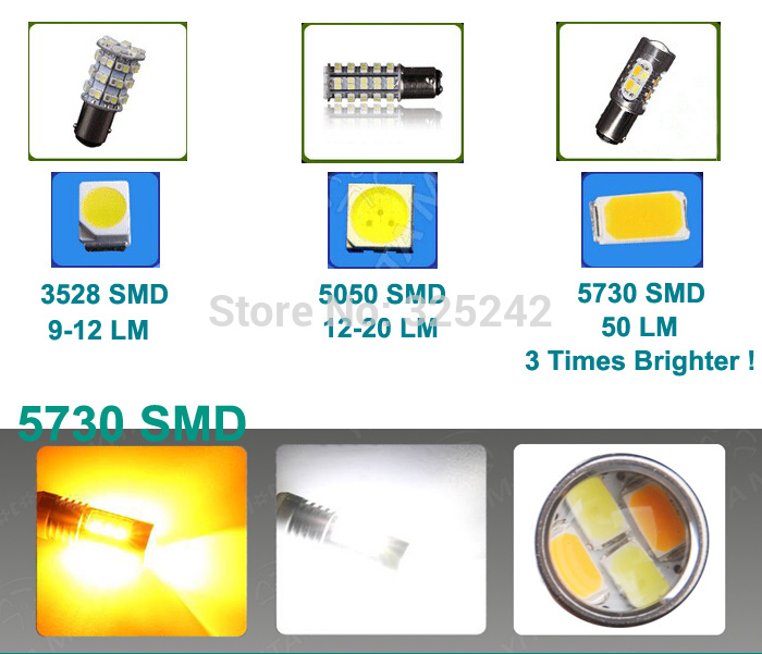 Excellent Ultrabright 3157 Dual Color Switchback LED Bulbs