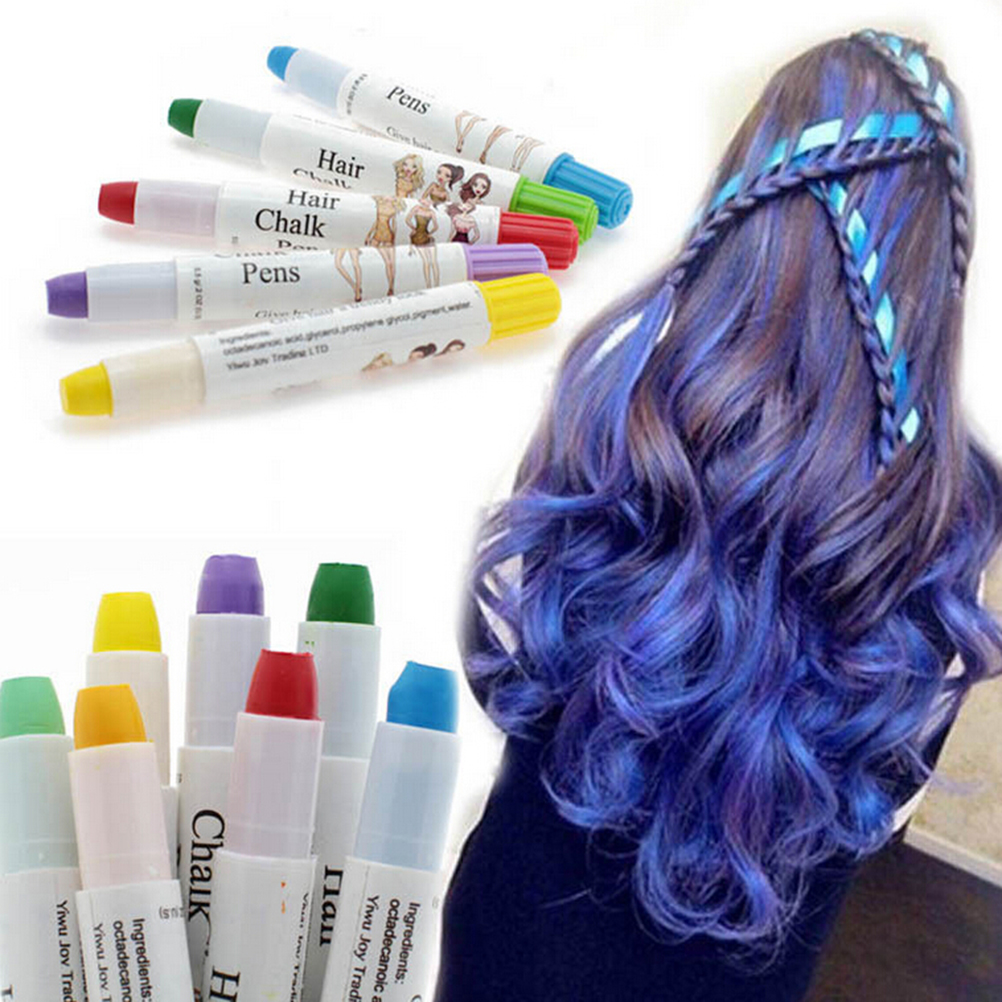 7 Colors Temporary Hair Color Spray Many Colors Easy Highlight color Disposable hair crayon for women girls Easy Use Non-toxic(China (Mainland))