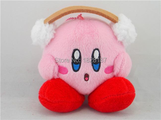 New Japan Japan Nintendo Kirby Adventure Earmuffs Kirby Plush Toy Keychain Bag Pendant(China (Mainland))