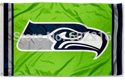 Football Seattle Seahawks Action Green NFL Flag Tailgating Large Outdoor Flag Banner 3ft x 5ft Size No.4 144* 96cm Custom flag(China (Mainland))