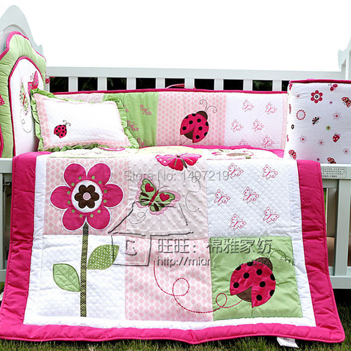 PH029 pink child crib linen set (2)