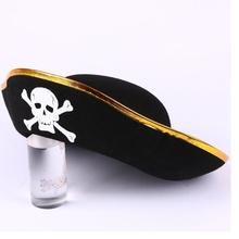 Halloween accessories skull hat caribbean pirate hat skull pirate hat piracy hat Corsair cap party supplies Free Shipping(China (Mainland))