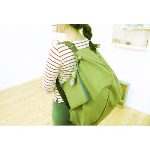 Green Multifunction Convert Foldable Storage Bag Shoulder Bags(China (Mainland))