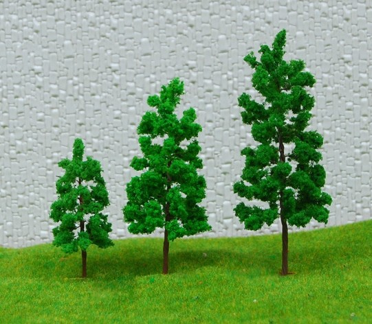 ,5/ lot Sand table building model Scale Train Layout Set Model Trees 5cm - yanmenglei store