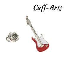 Cuffarts Fashion Kuningan Bros untuk Pria Gugatan Merah Merah Musik Gitar Lapel Pin Pesta Bros Pria Aksesoris P10124(China)