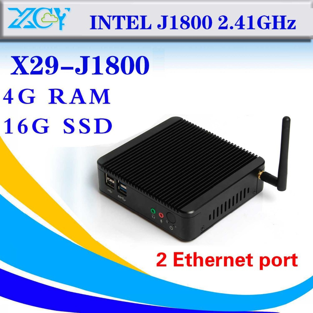 Intel J1800 dual core Cheap Mini Pc Station Thin Client Support Win 7 System Industrial Mini PC Super Mini Desktop PC-Station(China (Mainland))