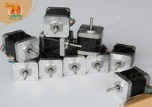 10 UNIDS Nema 17 Del Motor de Pasos 42BYGHW804, con 4800g. cm, 1.2A Robot CNC Reprap Impresora 3D Makebot (CE, ROSH)