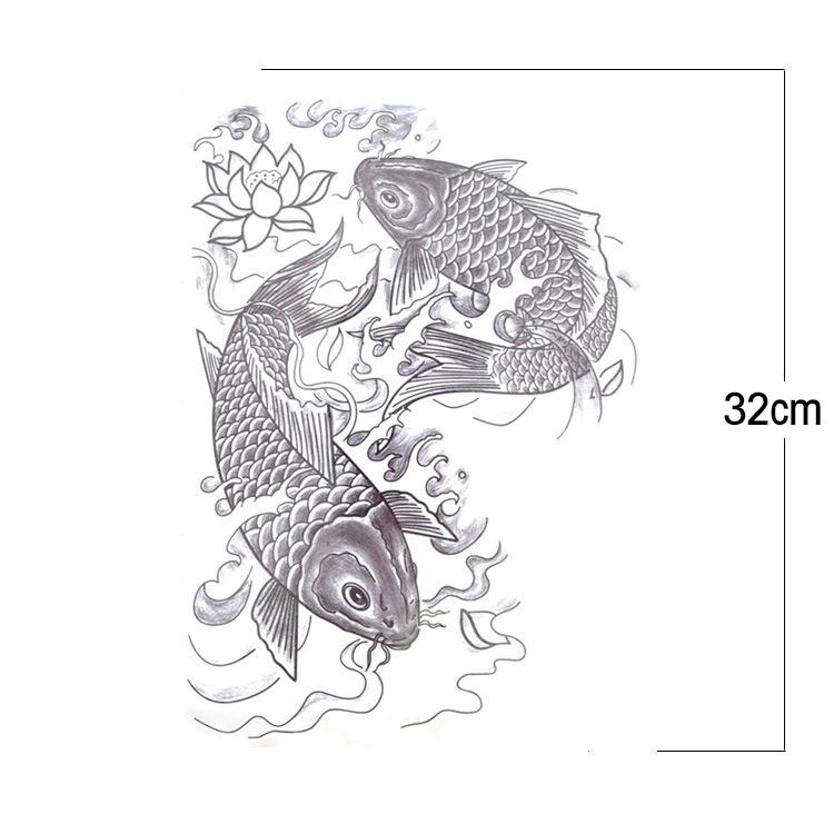 Acheter 22 x 34 cm lager noir blanc carpe for Carpe koi acheter