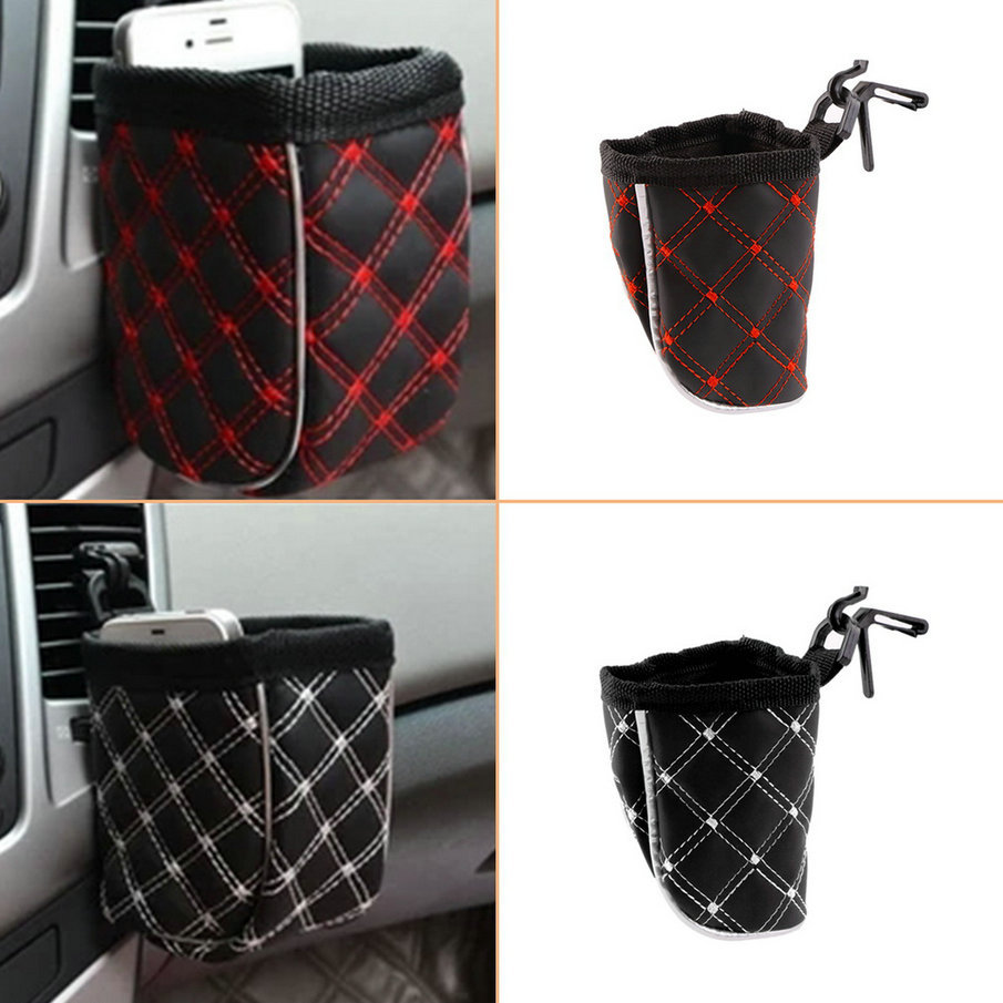 Car Bag Auto Supplies Pouch Buggy Outlet Grocery Storage Pockets Car air with net bag debris bags red glove box section hot sale(China (Mainland))