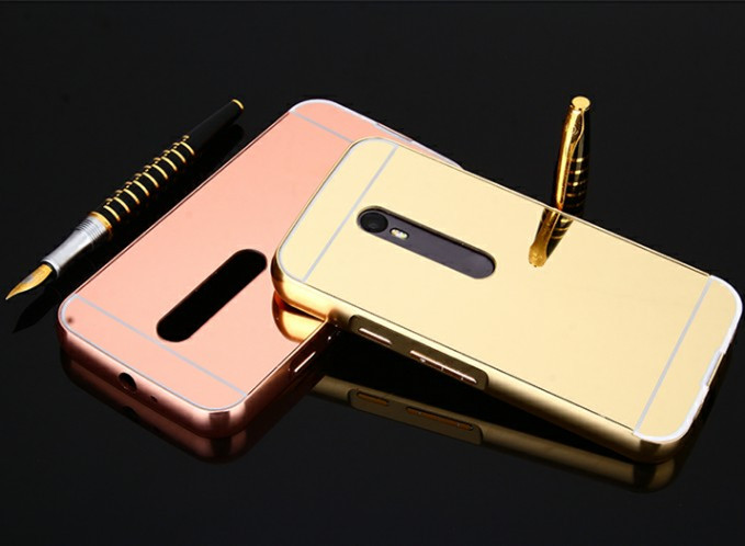 Luxury Plating Aluminum Metal Mirror Armor Back Cover Case for Motorola Moto G2 2nd Gen G3 Mirror Phone Cases for Moto G2 G3(China (Mainland))
