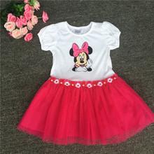 retail Disn* 2016 original brand,queen girls party dress minnie mouse dress cute baby girls dress,princess summer dress
