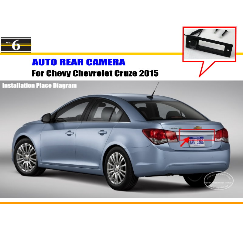 Car Camera For Chevy Chevrolet Cruze 2015 / Rear View Camera / HD CCD RCA NTST PAL / Trunk Handle OEM(China (Mainland))