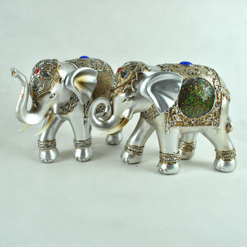 Modern minimalist creative gifts home decorations crafts ornaments elephant auspicious elephant ornaments one pair
