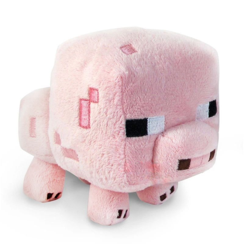 2016 New Arrival Minecraft Plush Toys 16CM Cute Pink Pig Soft Plush Stuffed Toys Kids Favor Animal Dolls Holiday Gift For Girls(China (Mainland))