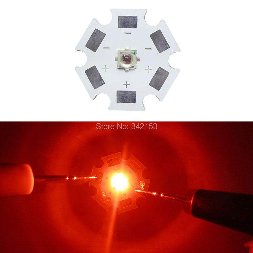 Epileds 1W 3W High Power LED 20mm 1watt 3watt Red / Blue Led Emitter Bulb Lamp For DIY Fish Tank Aquarium Decoration Lighting(China (Mainland))
