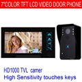 7 Video Intercom 1000TVL IR Night Vision Waterproof Camera Monitor Rain Cover Door Phone Doorbell F4345A1