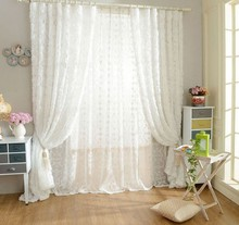 SunnyRain 1-Piece Rose Shaped White Tulle Curtain For Bedroom Living Room Sheer Curtains Luxury Drapes For Children Room(China (Mainland))